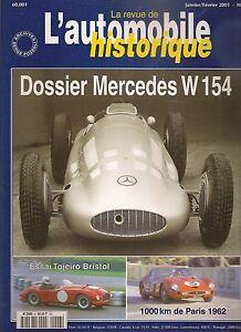 AUTOMOBILE HISTORIQUE 6 DOSSIER MERCEDES W154 1938 39 PEGASO 1000KM PARIS 1962