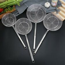 Stainless Steel Strainer Spider Skimmer Ladle Long Handle Frying Tool In xk @yi