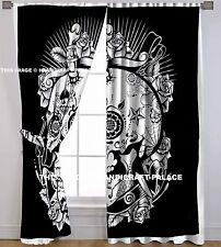 Head of Skull Mandala Curtain Door Hanging Window Balcony Indian Valance Drape