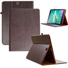 """Leder Cover f. Samsung Galaxy Tab S2  9.7"""" Schutz Hülle Tasche Tablet Case braun"""