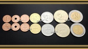 PHILIPPINES UNC SET of 7 COINS 1 5 10 25 SENTIMO 1 5 10 PISO BIMETAL 2007 2010