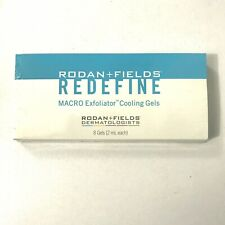 Rodan and + Fields Redefine Macro Exfoliator Cooling Gels 8 Gels 2ml each Sealed