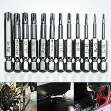 "12pcsTamper Star / Torx Socket Electric Screwdriver Bits Tool Set 1/4"" (T5~T40)"