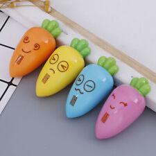 1PC cute cartoon creative carrot plastic pencil sharpener novelty stationeryYBB