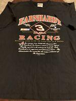 Dale Earnhardt Black Nascar Racing Legend Intimidator Mens T Shirt 2XL XXL USA