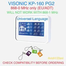 Visonic KP-160 White Touch Screen Keypad Proximity Reader PowerMaster Alarm