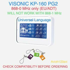 Visonic KP-160 White Touch Screen Keypad Proximity Reader PowerMaster Alarm