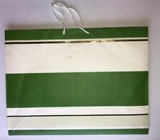 "Kate Spade Extra Large Green & White Paper Shopping Bag, 23"" x 17"""
