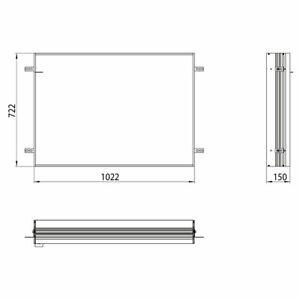 Emco Unterputz Einbaurahmen 949700012 für Lichtspiegelschrank Prime
