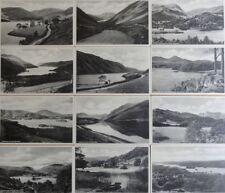 Cumbria: THE ENGLISH LAKES Set of 12 B/W Postcards - Pub by Atkinson & Pollitt