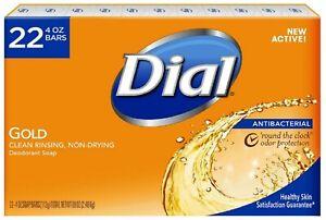 Dial Gold Antibacterial Deodorant Soap 4 oz ea. ( 22 BARS ) Bulk Lot Wholesale