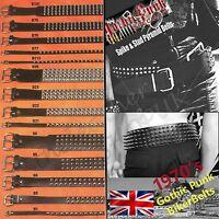 Leather Belts Punk Gothic Rock Studded Bullet Spike & Stud Belts Unisex UK Made