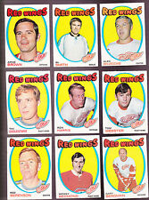 1971 O-Pee-chee Team LOT of 18 Detroit RED WINGS EX- OPC Alex REDMOND BERENSON