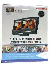 """SYLVANIA SDVD9957-E 9"""" Dual-Screen Portable DVD Player"""