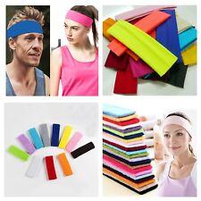 Sports headbands sweatbands head sweat band ladies mens yoga gym elastic hair