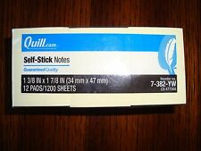 Quill 1 3/8 x 1 7/8 Self Stick Notes (Post-it Notes) Yellow 12pads/1200sheets