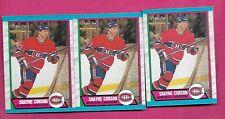 3 X 1989-90 OPC # 248 CANADIENS SHAYNE CORSON  ROOKIE  NRMT-MT CARD (INV# C2381)
