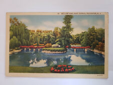 AK Rochester, NY, Willow Pond, East Avenue 1937,gelaufen