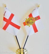 City of London & Royal Marines Reserve London Double Friendship Table Flag Set