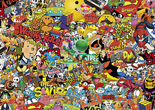 NEW 80's Colour STICKERBOMB SHEET-X1 - 1m x 1m  (EURO/ DRIFT/JDM/CARTOON)