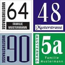 Placa de Número de Casa Plástico con Texto Deseado