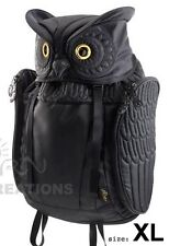 Owl 3D backpack MORN CREATIONS bag nocturnal guardian legend hoot hooter BLACK