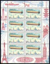 Russia 1991 Transport/Airships/Zeppelin 8v sht (n29160)