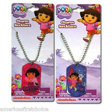 Nick Jr. Kids  Dora Sweet Muy Dulce + Boots Dog Tag Necklace PARTY FAVORS-NEW