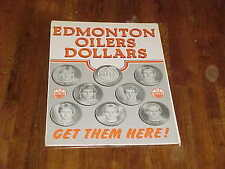 1983 Edmonton Oilers Dollars Hockey Advertising Piece w/Wayne Gretzky Messier