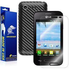 ArmorSuit MilitaryShield LG Optimus Fuel L34C Screen + Black Carbon Fiber Skin