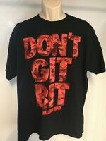 Walking Dead Don't Get Bit Cotton T-Shirt Size XL Jerzees Blood Graphics Letters