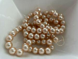 85 Stück Glaswachsperlen 10 mm gold beige Perlen basteln Schmuck Perlen G43