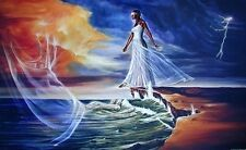 "African American Art ""Step Out on Faith (Woman)"" Religious Art Print by WAK"