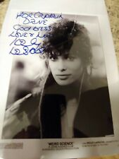 Weird science Kelly LeBrock Autographed Movie Photo. 35th Anniversary of Movie.