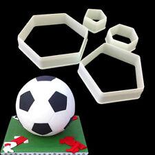 4pcs Football Cookie Cutters Soccer Shape Fondant Cake Decor Baking Mold Tool