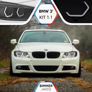 BMW 3 E90 E91 XENON BJ ICONIC LIGHTS KiT 1.1 LED ring Angel Eyes Halo Marker