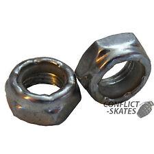 "KINGPIN NUTS Nylock Roller Skate Derby Quad x4 Silver 9/16"" Rollerskate"