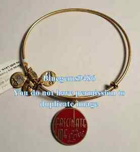 Alex and Ani Fascinate Me With Love Charm Bangle Russian Gold - Rare
