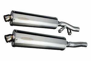 """Kawasaki Concours ZG1000 Delkevic 18"""" Stainless Oval Muffler Exhaust 86-05"""