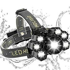 BESTSUN 6000 Lumens Head Torch Rechargeable, 7 LED Powerful Head Torches LED ...