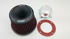 Apexi Style Car Power Flow Air Filter Unit Intake Suction Kit 3inch 76mm Adaptor