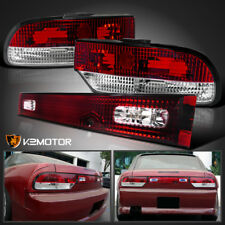 JDM S13 Hatchback Red Clear Rear Tail Lights+Center Piece For 89-94 Nissan 240SX