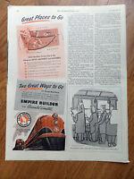 1948 Great Northern Railway Ad Empire Builder & Oriental Limited