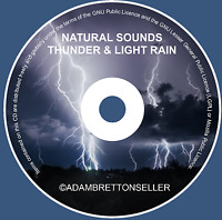THUNDER & LIGHT RAIN CD - RELAXATION STRESS SLEEP AID CALM NATURE NATURAL SOUNDS