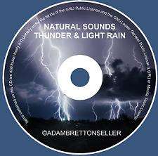 THUNDER & LIGHT RAIN CD - RELAXATION STRESS SLEEP AID CALM NATURE NATURAL SOUNDS