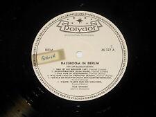 Max Greger - PROMO LP - Ballroom in Berlin - DE Polydor 46 327
