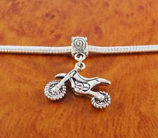 Dirt bike motorcycle dangle charm bead for European charm bracelet or necklace