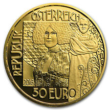 2016 Austria Gold Proof €50 Klimt Series (The Kiss) - SKU #97877