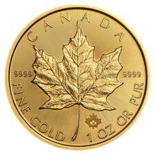 1 oz Gold Maple Leaf 2018 prägefrisch - 15 Euro Rabatt ab 3 Stück