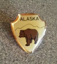 Alaska bear shield pin badge
